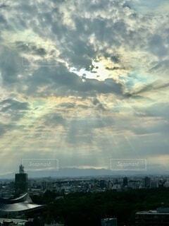 風景,空,屋外,雲,タワー,高層ビル,くもり