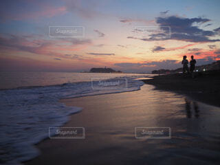 自然,海,空,屋外,湖,太陽,ビーチ,雲,夕暮れ,水面,海岸,湘南,チル,鎌倉