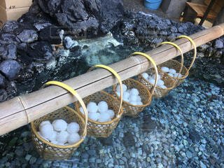 温泉,水面,観光,たまご,温泉卵,温泉たまご