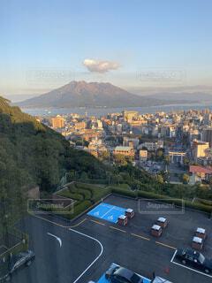 自然,風景,空,建物,屋外,雲,山,観光,鹿児島,桜島