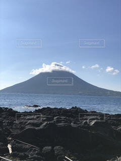 海,空,雲,山,観光,鹿児島,開門岳