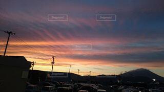 秋,雲,夕焼け,景色,赤い空