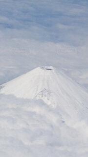 自然,空,富士山,雪,屋外,白,雲,飛行機,雪山,山,ホワイト,機上