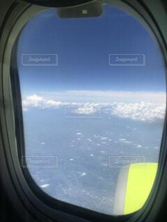 空,雲,飛行機,窓,飛ぶ,反射,旅行,空中,ミラー,海外旅行,航空機,フライト,フライト中