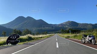 風景,空,屋外,道路,バイク,山,道