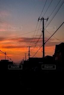 オレンジ色に染まる住宅街の写真・画像素材[4834810]