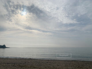 自然,海,空,屋外,ビーチ,雲,水面,海岸,夕方