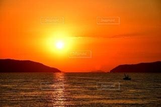 夕暮れの瀬戸内海の写真・画像素材[4660054]