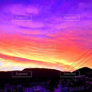 風景,空,屋外,太陽,雲,夕暮れ,山,日の出