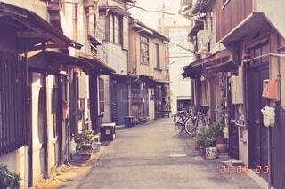 風景,建物,屋外,家,古い,道,歩道,通り