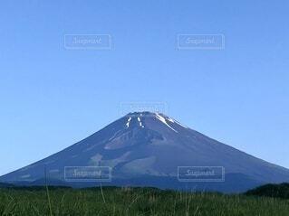 自然,風景,空,富士山,屋外,青空,山,大地,新緑,快晴,火山,山腹,成層火山