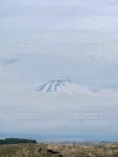 自然,風景,空,富士山,屋外,雲,霧,山,草