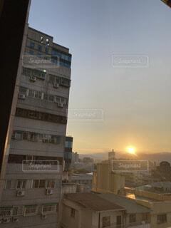 風景,空,海外,朝日,朝焼け,はじまり,夜が明ける,朝の目覚め,台湾の朝日,素朴な朝