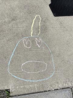 かわいい,絵,アート,キャラクター,チョーク,恋,手書き,落書き,子どもの絵,あんぐり,ドキンちゃん,スケッチ,図面,静止,子供の芸術