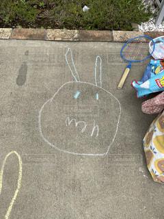 アート,チョーク,手書き,困った顔,子供の絵,図面,ばいきんまん,子供の芸術,泣面