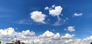 自然,風景,空,夏,屋外,雲,晴れ,青空,入道雲,暑い,梅雨,天気,真夏,くもり,7月,日中,梅雨明け,積雲