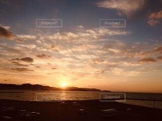 自然,風景,海,夕焼け