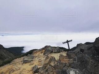 空,屋外,雲,山,岩