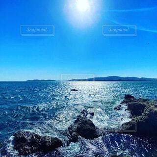 自然,風景,海,空,屋外,湖,太陽,ビーチ,波,水面,山