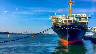 海,空,屋外,ボート,黄色,船,水面,港,横浜