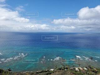 自然,海,空,屋外,湖,ビーチ,雲,晴れ,島,青,水面,海岸,ハワイ,眺め,日中,海洋地形