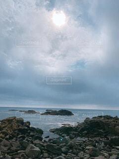 自然,風景,海,空,屋外,湖,ビーチ,雲,水面,海岸,山,岩,岬