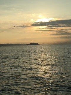 自然,海,空,雲,船,水面