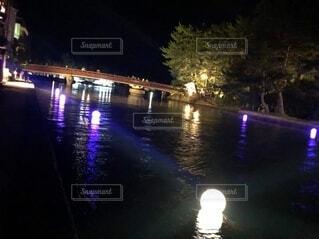 宮津湾近くでのライトアップの写真・画像素材[4656123]
