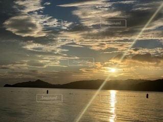 宮津湾の日の出の写真・画像素材[4656124]