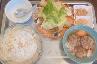 ベトナム料理のブンチャーセットの写真・画像素材[4656133]
