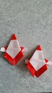 屋内,赤,クリスマス,サンタクロース,折り紙,クラフト,紙,アート紙