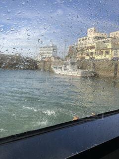 海,雨,島,のどか