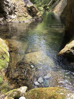 自然,屋外,湖,川,水面,山,滝,岩,運河,草木,水資源