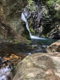自然,風景,屋外,川,水面,山,滝,岩,カスケード