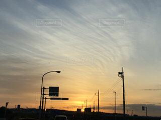 空,屋外,雲,夕暮れ,明るい