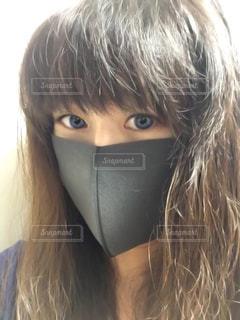 黒マスクの写真・画像素材[2660124]