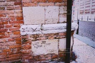 建物,標識,レンガ,古い,手書き,縁石