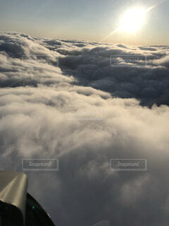自然,空,雪,屋外,雲,飛行機,霧,くもり,フライト