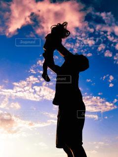 父と娘の写真・画像素材[4646629]