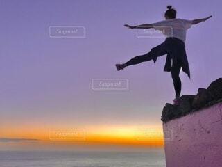 ピルボックスからの夕日の写真・画像素材[4646983]