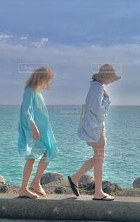 海コーデの写真・画像素材[4650105]