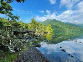 自然,風景,空,屋外,湖,雲,川,水面,山,樹木