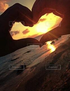 自然,屋外,太陽,山,洞窟,サンセット 海 夕陽 太陽 夕暮れ 夕日 ビーチ