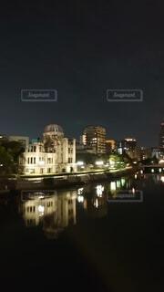 夜景,水面,広島