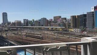 空,建物,屋外,駅,黄色,都会,高層ビル,鉄道,ドクターイエロー,名古屋,車両