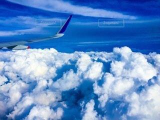 空,屋外,雲,青,飛行機,飛ぶ