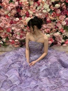 女性,風景,花,屋外,花嫁,人物,人,ウェディングドレス