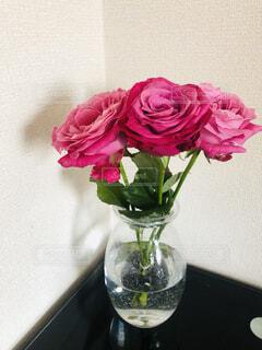 花,屋内,赤,花束,花瓶,バラ,ガラス,薔薇,植木鉢,壁,フラワーアレンジ,クリア,草木,花屋,切り花