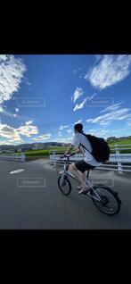 青空バイクの写真・画像素材[4655433]