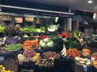 食べ物,風景,海外,果物,野菜,市場,八百屋,たくさん,マーケット,新鮮,テキスト,販売,ストア,自然食品,地元の料理